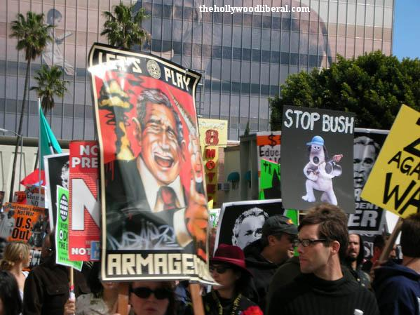 Veterans against the war marched in Hollywood